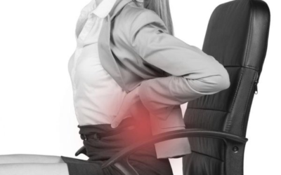 woman is struggling with lower back pain